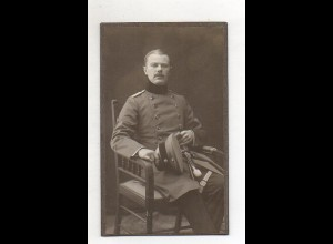 Y14138/ CDV Foto Soldat in Uniform ca.1905