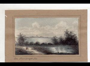 S2349/ Am Starnberger See handgemalte AK von Generallt. von Euler 1918