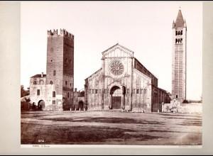 C2777/ Verona S. Zeno Italien Foto Fotograf Sommer, 25 x 20 cm ca.1880