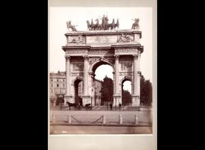 C2776/ Milano Arco della Parc Italien Foto Fotograf Sommer, 25 x 20 cm ca.1880