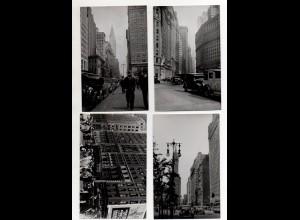 Y14950/ 4 x Foto AK NEW YORK USA ca.1950