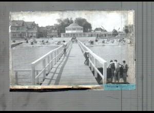 Neg5229/ Ostseebad Niendorf Seebrücke altes Negativ 40/50er Jahre