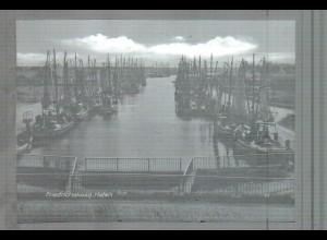 Neg5277/ Friedrichskoog Hafen Fischerboote altes Negativ 60er Jahre