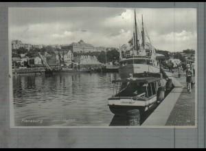 Neg5272/ Flensburg Hafen Schiffe altes Negativ 50er Jahre