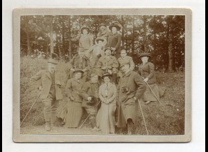 Y14355/ Foto auf Pappe Wandern Wanderer ca.1905