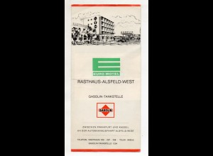 C3094/ Autobahn Rasthaus Alsfeld-West Gasolin-Tankstelle Faltbatt ca.1960