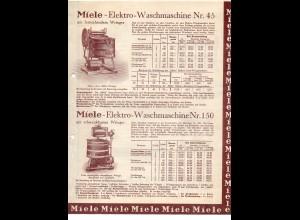 C3098/ Miele Elektro-Waschmaschinen Walzmangel Original Werbung 1934