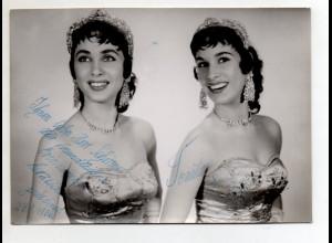 C3101/ Tonita und Lily Artisten Variete Foto 18 x 13 cm 1956 mit Widmung