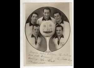 C3107/ The Italo Boys Akrobaten Artisten Variete Zirkus Foto 1935 mit Widmung
