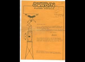 C3112/ DURBIN Wundere Balance Artist Variete Brief 1942 Thorn