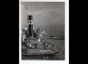 C3119/ Hamburg Hafen Schlepper Pressefoto ca.1955 23 x 17 cm