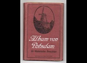 Y14423/ Album von Potsdam 20 x historische Ansichten AK ca. 1920