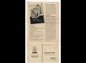 Y14417/ Heimsauna Kreuz-Thermalbad München AK Gutschein Werbung ca.1955