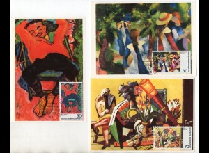 Y14420/ 8 x Maximumkarte Deutscher Expressionismus 1974/75