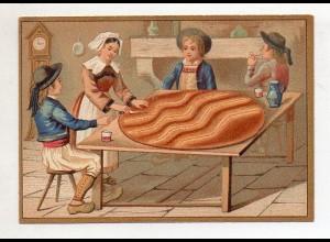Y14424/ Biscuits Lefevre altes Kaufmannsbild Kekse Kinder Litho