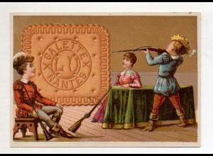 Y14425/ Biscuits Lefevre altes Kaufmannsbild Armbrust Kekse Kinder Litho