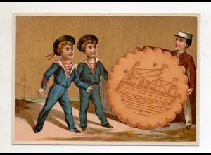 Y14429/ Biscuits Lefevre altes Kaufmannsbild Matrosen Kekse Kinder Litho