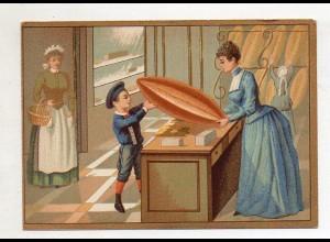 Y14431/ Biscuits Lefevre altes Kaufmannsbild Bäckerei Kekse Kinder Litho