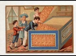 Y14432/ Biscuits Lefevre altes Kaufmannsbild Kekse Kinder Litho