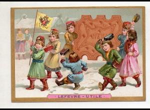 Y14436/ Biscuits Lefevre altes Kaufmannsbild Kinder Kekse Litho