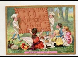 Y14437/ Biscuits Lefevre altes Kaufmannsbild Kinder Kekse Litho
