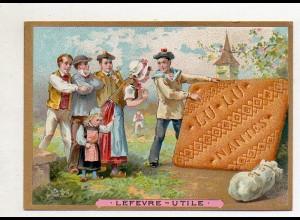 Y14440/ Biscuits Lefevre altes Kaufmannsbild Trachten Kekse Litho
