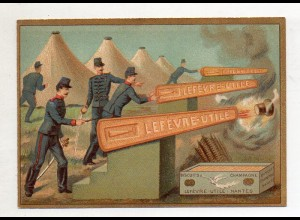 Y14434/ Biscuits Lefevre altes Kaufmannsbild Soldaten Kekse Kinder Litho