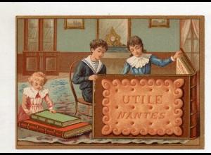 Y14433/ Biscuits Lefevre altes Kaufmannsbild Buch Kekse Kinder Litho
