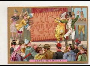 Y14435/ Biscuits Lefevre altes Kaufmannsbild Zirkus Kinder Litho
