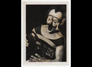 C3148/ Bertl Capek mit Unterschrift, Clown Wiener Eisrevue Foto ca.1950 Variete