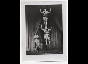 C3146/ Ety van Veen Comp. Klassische Clowns Variete in Köln Foto ca.1955