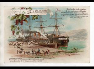 C3290/ Wein Bodega Continental, Hafen von Oporto Portugal Litho Werbung ca.1900