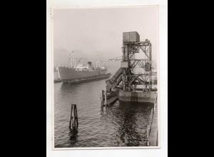 C3258/ Hamburg Hafen Kohlenschütte Dampfer Foto 16,5 x 12,5 cm ca.1960