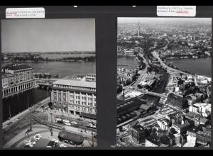 C3733/ 2 Fotos Hamburg Innenstadt ca. 1965-70 17 x 13 cm