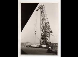 C3263/ Hamburg Hafen Riesenschwimmkran Foto 16,5 x 12,5 cm ca.1965