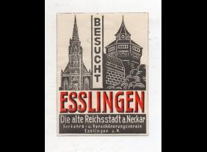 Y14747/ Reklamemarke Esslingen die alte Reichsstadt am Neckar ca.1935