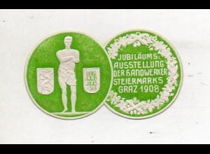 Y14792/ Siegelmarke Graz Ausstellung der Handwerker Steiermark 1908