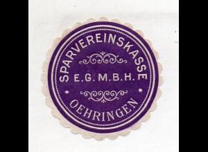 Y14798/ Siegelmarke Oehringen - Sparvereinskasse ca.1910