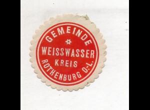 Y14797/ Siegelmarke Gemeinde Weisswasser Krs. Rothenburg O.-L. ca.1910