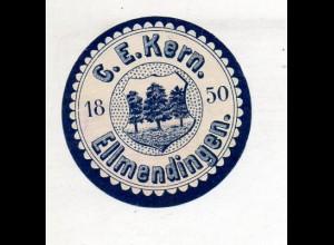 Y14794/ Siegelmarke Ellmendingen G. E. Kern ca.1910