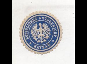 Y14796/ Siegelmarke Haynau Königsl. Amtsgericht Schlesien ca.1910