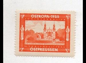 Y16226/ Ostropa 1935 Königsberg Ostpreußen Vignette Reklamemarke