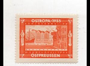 Y16231/ Ostropa 1935 Königsberg Ostpreußen Vignette Reklamemarke