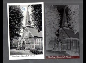 Y14877/ Hamburg Bergedorf Kirche AK + Negativ ca.1955