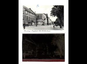 Y14872/ Hamburg Bergedorf Alte Holstenstarße AK + Negativ ca.1955