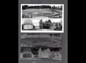 Y14871/ Hamburg Bergedorf Stadion, Sternwarte AK + Negativ ca.1955