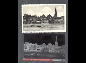 Y14856/ Lauenburg Elbe AK + Negativ ca.1940