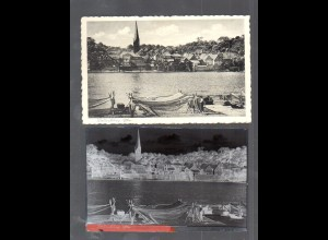 Y14854/ Lauenburg Elbe AK + Negativ ca.1940