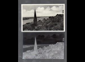 Y14855/ Lauenburg Elbe AK + Negativ ca.1940