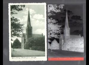 Y14864/ Hamburg Stellingen Kirche AK + Negativ ca.1940